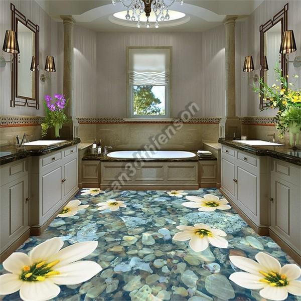Phòng tắm độc đáo với sản phẩm sàn 3D