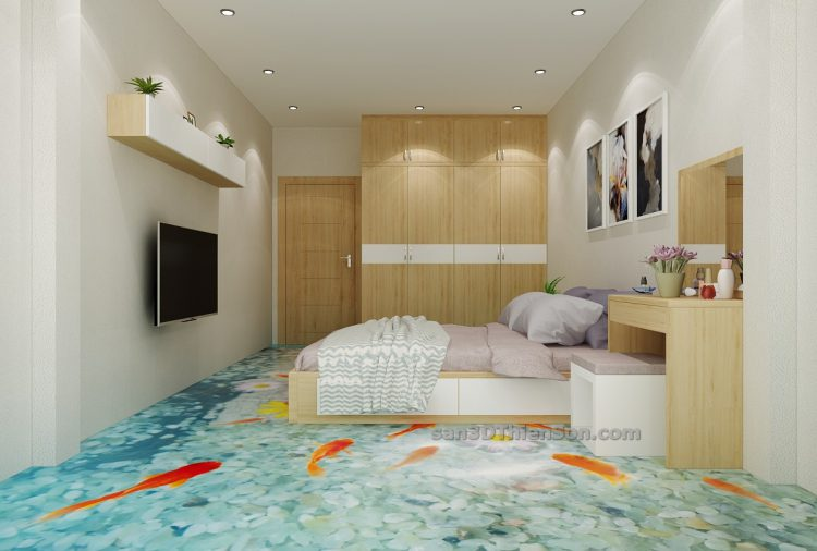 sàn 3d phòng ngủ