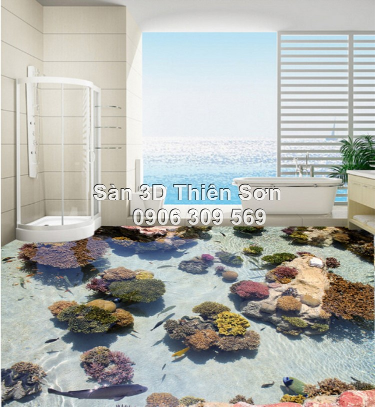 Mẫu sàn 3D cho nhà tắm