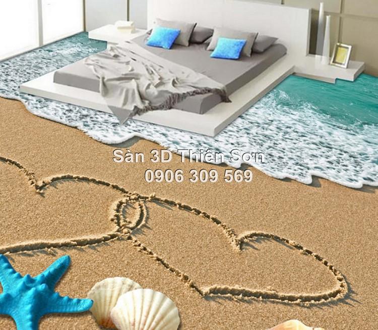 Mẫu sàn 3D cho phòng ngủ