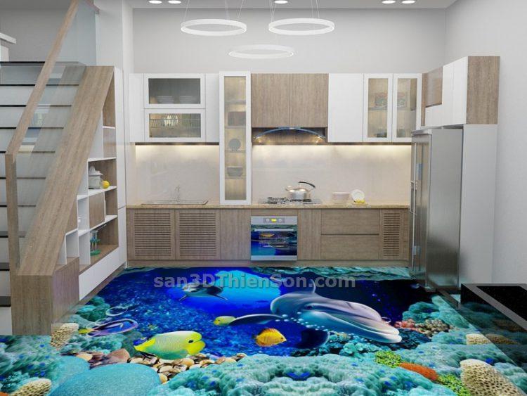 Sàn 3D cho nhà bếp, nhà ăn
