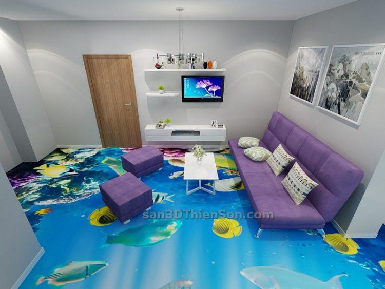 Sàn 3D chủ đề đại dương
