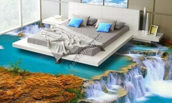 Sàn 3D nghệ thuật cho phòng ngủ