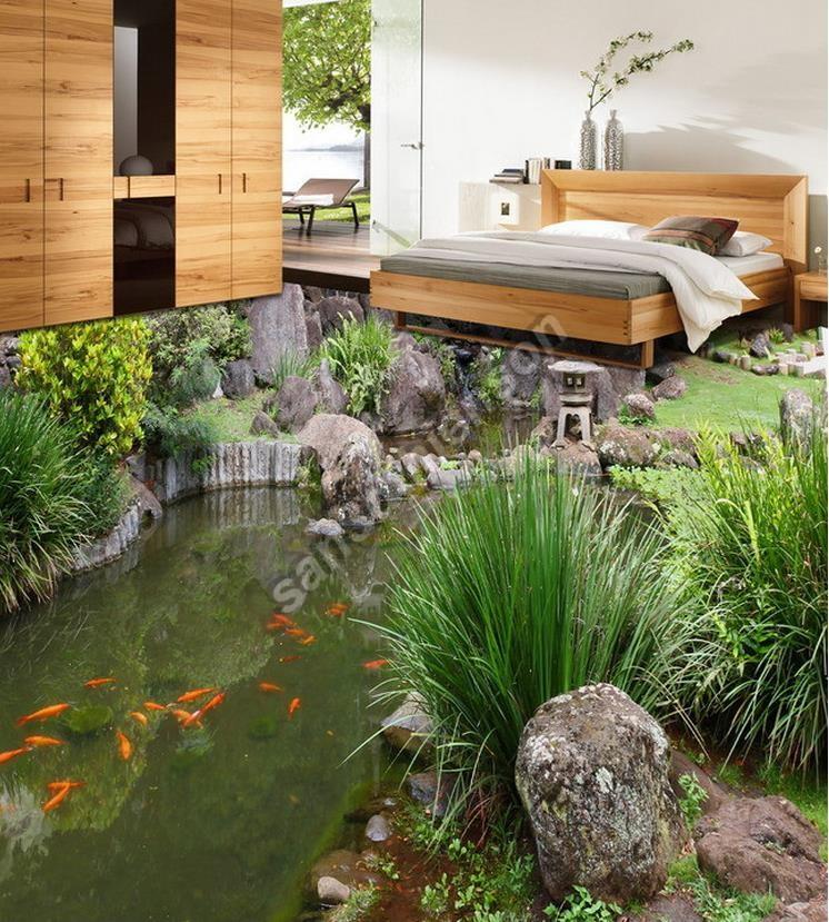 Phòng ngủ độc đáo với sàn 3d