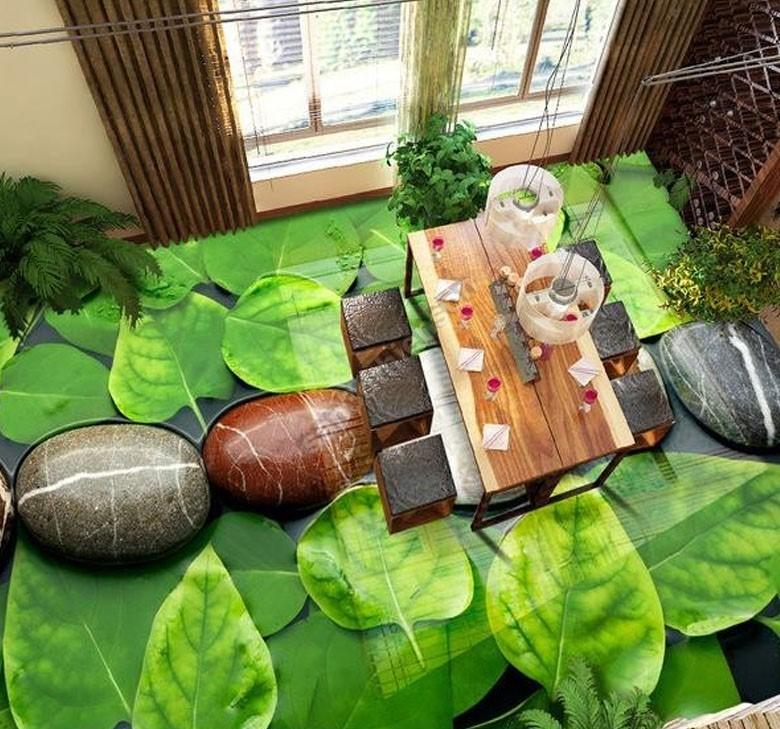 Sàn 3D đẳng cấp và độc đáo cho phòng khách